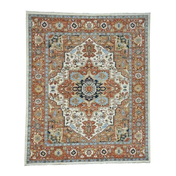 Fine Round Persian Bidjar Area Rug Hand Knotted Wool And: Shop Shahbanu Rugs Antiqued Bidjar Design Hand-Knotted