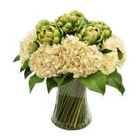 Bouquet of Hydrangeas and Artichokes - Green
