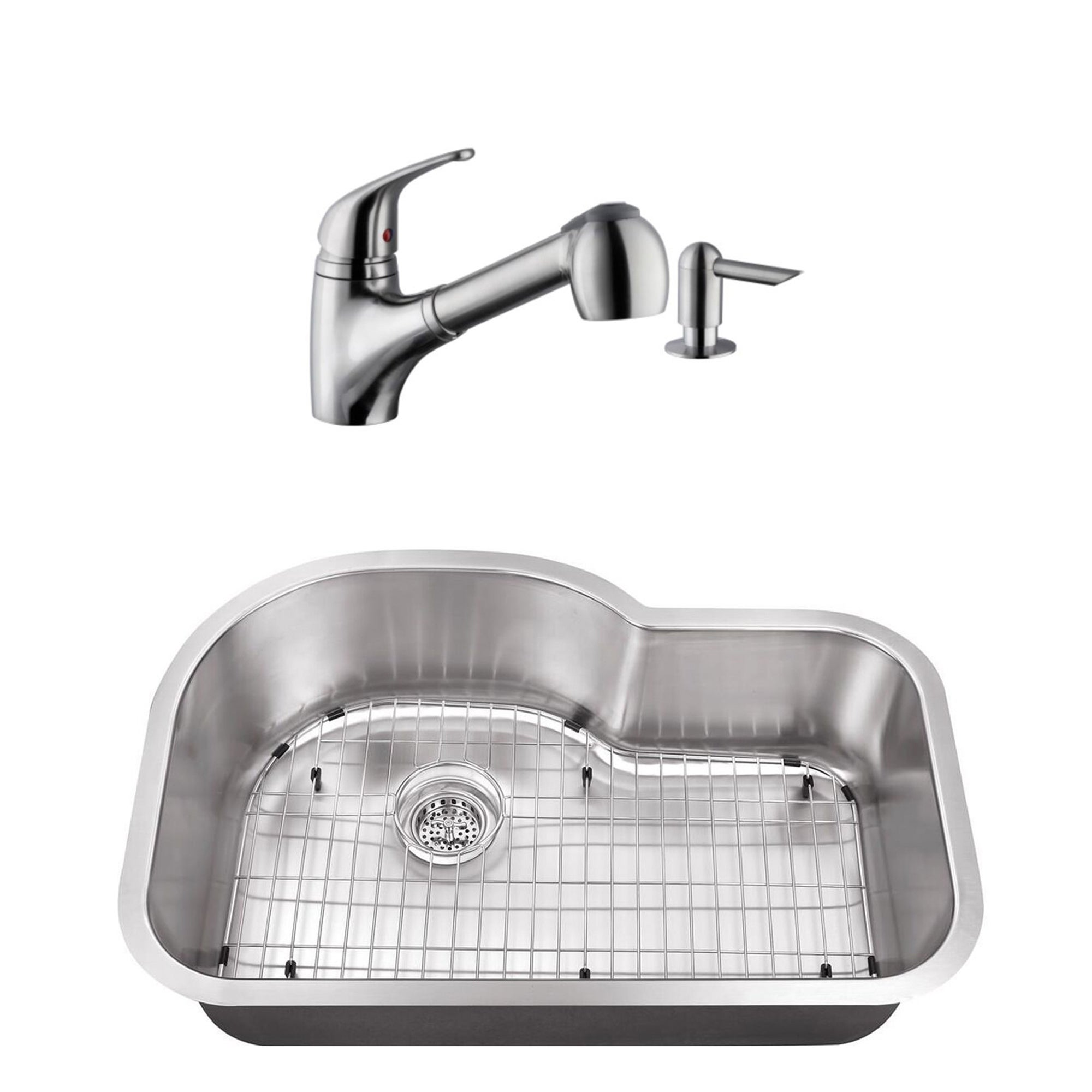 Eurostyle Stainless Steel Kitchen Sink Low Profile Faucet