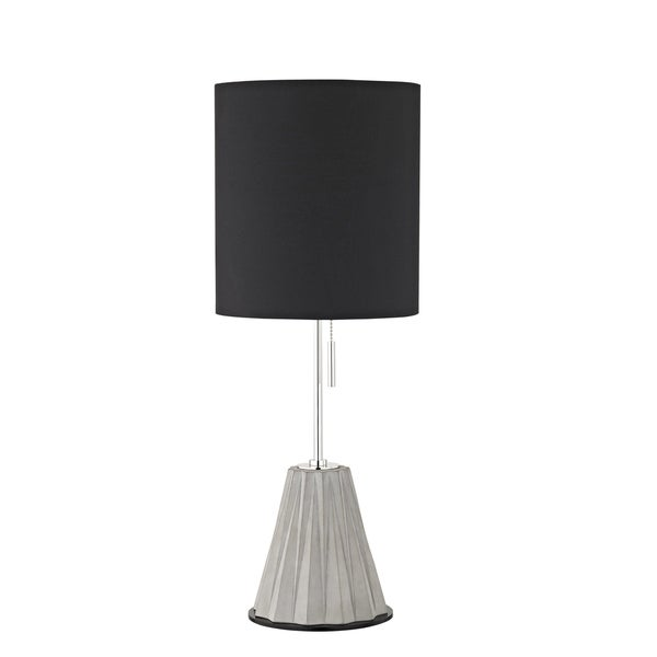 Mitzi by Hudson Valley Devon 1-light Polished Nickel Table Lamp, Black Fabric Shade