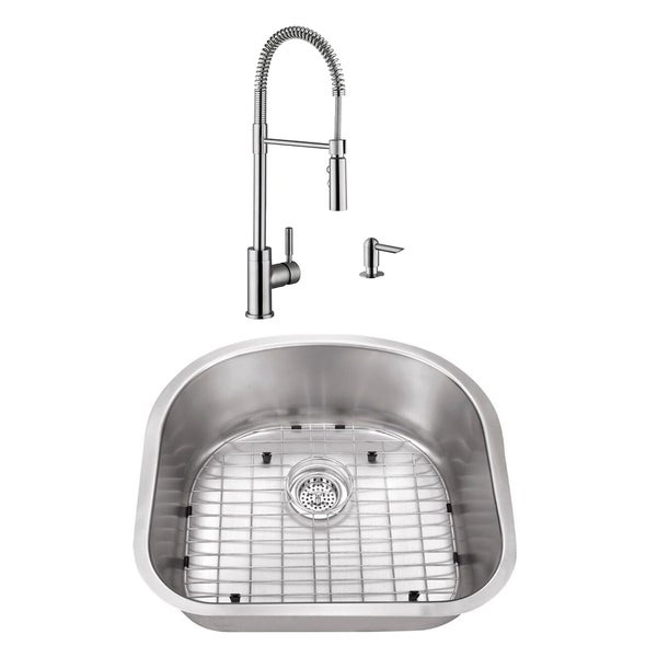 Shop Cahaba 23 1 4 X 20 7 8 18 Gauge Ss Single Bowl Kitchen Sink