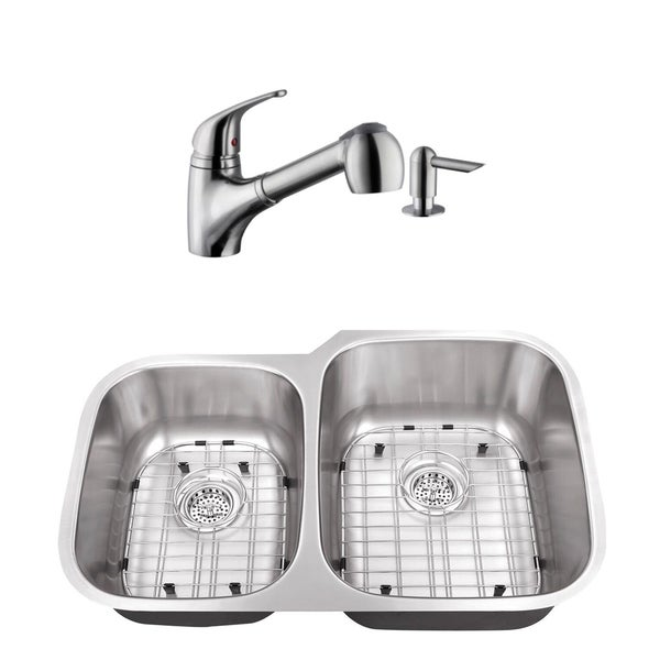 40 60 Stainless Steel Kitchen Sink Low Profile Faucet