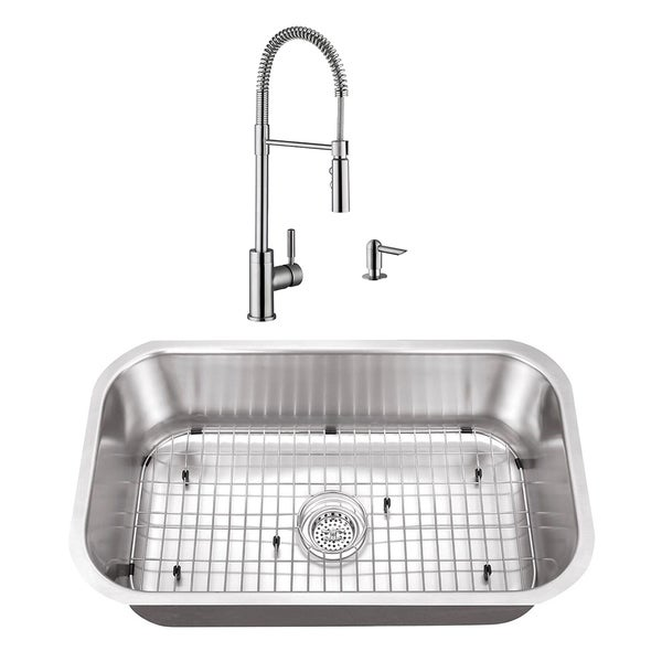 Cahaba 30 X 18 16 Gauge Ss Single Bowl Kitchen Sink With With Pull