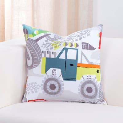 Crayola Four Wheelin Throw Pillow