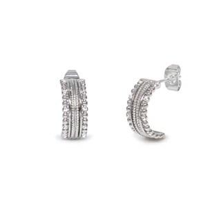 Eternally Haute Timeless J Hoop Earrings with Austrian Crystals