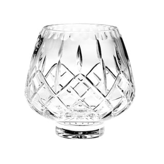 Majestic Gifts Hand Cut Mouth Blown Crystal- Footed Rose Bowl - Made in Europe