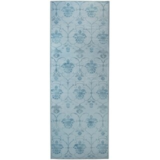 Ruggable Washable Indoor/Outdoor Stain Resistant Runner Rug Leyla Blue