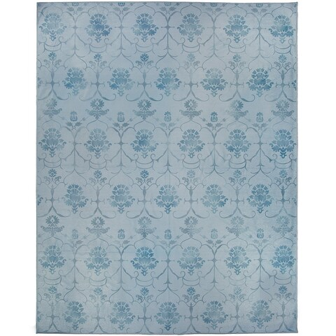 Ruggable Washable Indoor/Outdoor Stain Resistant Pet Area Rug Leyla Blue (8' x 10') - 8' x 10'
