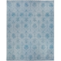 Ruggable Washable Indoor/Outdoor Stain Resistant Pet Area Rug Leyla Blue - 8' x 10'