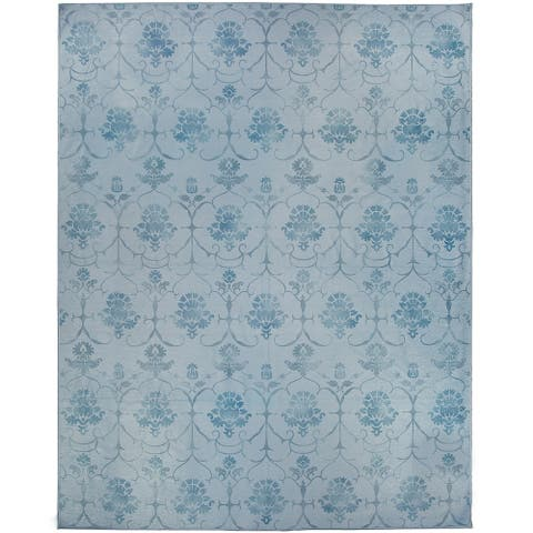 Ruggable Washable Stain Resistant Pet Area Rug Leyla Blue - 8' x 10'
