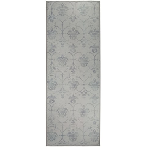 """Ruggable Washable Stain Resistant Pet Runner Rug Leyla Grey - 2'6"""" x 7'"""