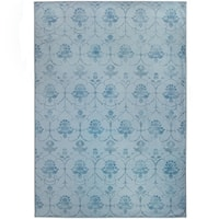 Ruggable Washable Indoor/Outdoor Stain Resistant Pet Area Rug Leyla Blue - 5' x 7'