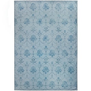 Ruggable Washable Indoor/Outdoor Stain Resistant Area Rug Leyla Blue