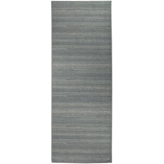 """Ruggable Washable Stain Resistant Pet Runner Rug Solid Grey - 2'6"""" x 7'"""