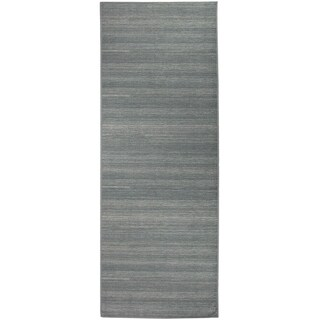 Ruggable Washable Indoor/Outdoor Stain Resistant Runner Rug Solid Grey