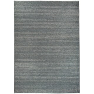 Ruggable Washable Indoor/Outdoor Stain Resistant Pet Area Rug Solid Grey (5' x 7') - 5' x 7'