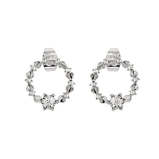 Eternally Haute Wreath Circle Suds Earrings with Swarovski Element Crystals