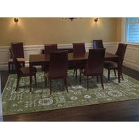 "Shahbanu Rugs Hand-Knotted Wool And Silk Tone on Tone Tabriz Oriental Rug - 9'0"" x 12'2"""