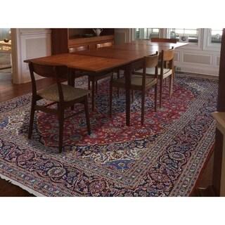 "Shahbanu Rugs Hand-Knotted Persian Kashan Full Pile Pure Wool Oriental Rug - 10'0"" x 13'4"""
