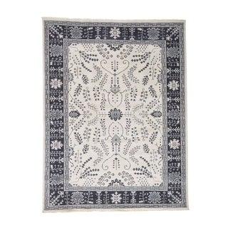 "Shahbanu Rugs Ivory Turkish Knot Oushak Hand-Knotted Pure Wool Oriental Rug - 8'0"" x 10'0"""