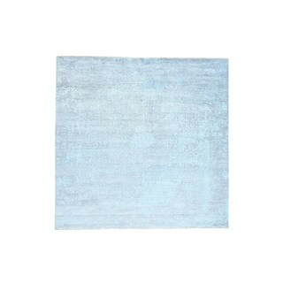"""Shahbanu Rugs Hand-Knotted Broken Persian Design Square Wool And Silk Rug (12'0"""" x 12'0"""") - 12'0"""" x 12'0"""""""