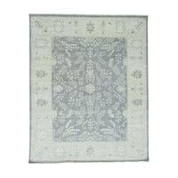 """Shahbanu Rugs Hand-Knotted Turkish Knot Oushak Pure Wool Oriental Rug - 9'1"""" x 12'0"""""""