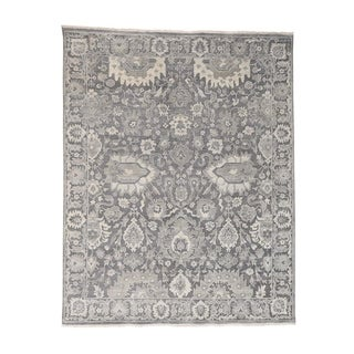 """Shahbanu Rugs Silk With Oxidized Wool Hand Knotted Oushak Influence Oriental Rug - 8'1"""" x 10'1"""""""