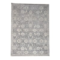 "Shahbanu Rugs Silk With Oxidized Wool Hand Knotted Oushak Influence Oriental Rug - 9'0"" x 12'2"""