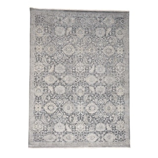 """Shahbanu Rugs Silk With Oxidized Wool Hand Knotted Oushak Influence Oriental Rug - 9'0"""" x 12'2"""""""