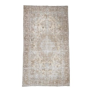 "Shahbanu Rugs Hand-Knotted Vintage Persian Tabriz Sheared Thin Gallery Size Rug - 9'7"" x 16'3"""