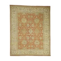 """Shahbanu Rugs Turkish Knot Oushak Pure Wool Hand Knotted Oriental Rug - 8'0"""" x 10'0"""""""