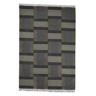 "Shahbanu Rugs Modern Nepali Hand Knotted Pure Wool Oriental Rug - 6'0"" x 8'10"""