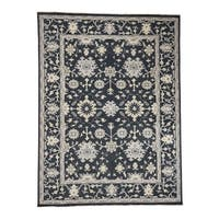 """Shahbanu Rugs Turkish Knot Oushak Hand-Knotted Pure Wool Oriental Rug - 9'1"""" x 12'1"""""""
