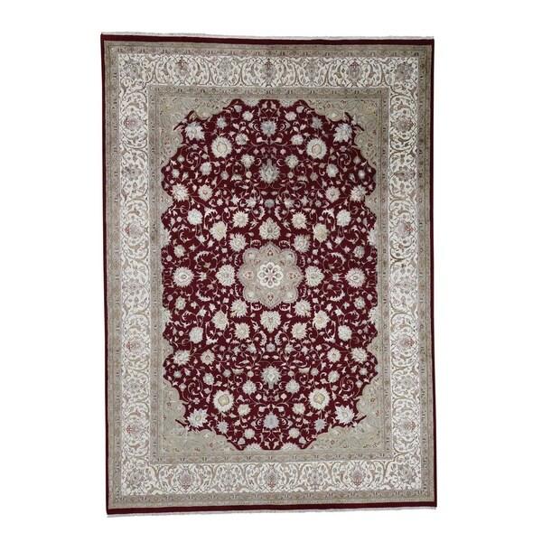 Persian Hand Knotted Kashan Silk And Wool Area Rug Ebth: Shop Shahbanu Rugs 300 Kpsi Kashan Wool And Silk Hand