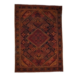 """Shahbanu Rugs Hand Knotted Vintage Overdyed Persian Bakhtiari Oriental Rug - 6'10"""" x 9'4"""""""