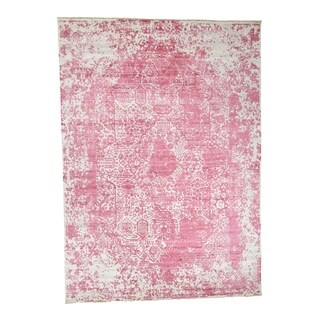 """Shahbanu Rugs Broken Persian Design Wool And Pure Silk Hand-Knotted Oriental Rug - 10'0"""" x 13'10"""""""