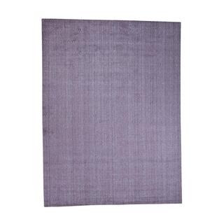 "Shahbanu Rugs Hand-Loomed Pure Wool Tone on Tone Oriental Rug - 9'0"" x 12'0"""