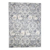 """Shahbanu Rugs Hand-Knotted Silk With Oxidized Wool Hunting Design Rug - 10'2"""" x 14'2"""""""