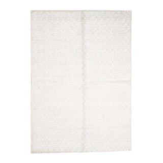 "Shahbanu Rugs Hand-Loomed Pure Wool Tone on Tone Oriental Rug - 5'1"" x 7'1"""