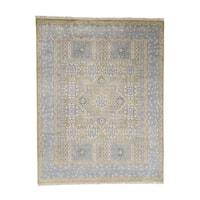 "Shahbanu Rugs Light Blue Mamluk Hand Knotted Pure Wool Oriental Rug - 7'8"" x 9'9"""