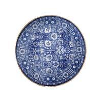 "Shahbanu Rugs Hand-Knotted Round Tabriz Tone on Tone Wool and Silk Oriental Rug - 8'0"" x 8'0"""
