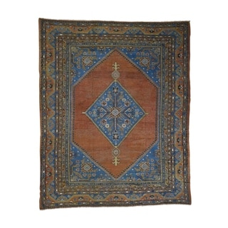 "Shahbanu Rugs Antique Samarkand With Bakshaish Design Oriental Rug - 9'6"" x 11'9"""