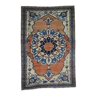 "Shahbanu Rugs Antique Persian Serapi Good Cond Oriental Rug - 8'4"" x 12'6"""