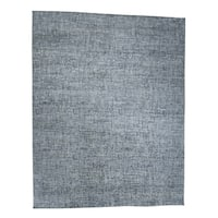 """Shahbanu Rugs Pure Silk with Oxidized Wool Tone on Tone Hand-Knotted Oriental Rug - 12'1"""" x 15'3"""""""