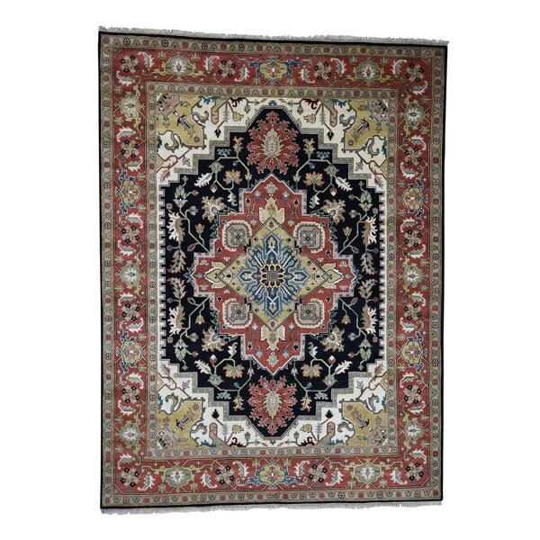 Hand Knotted Heriz Wool Fine Persian Oriental Area Rug: Shop Shahbanu Rugs Hand-Knotted Serapi Heriz Tribal Design