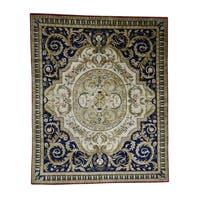 "Shahbanu Rugs Nepali with Aubusson Design Thick and Plush Hand-Knotted Oriental Rug - 8'3"" x 10'0"""