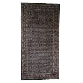 """Shahbanu Rugs Gallery Size Herati Design Pure Wool Hand-Knotted Oriental Rug (8'0"""" x 15'10"""") - 8'0"""" x 15'10"""""""