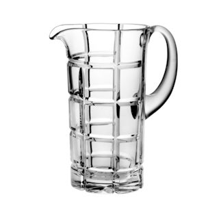 """Majestic Gifts Hand Cut - Mouth Blown Crystal Pitcher - 50 oz. - 9 """" height - Made in Europe"""