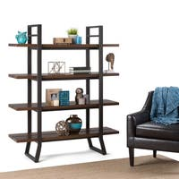 WYNDENHALL Tyson Modern Industrial Solid Wood & Metal Bookcase