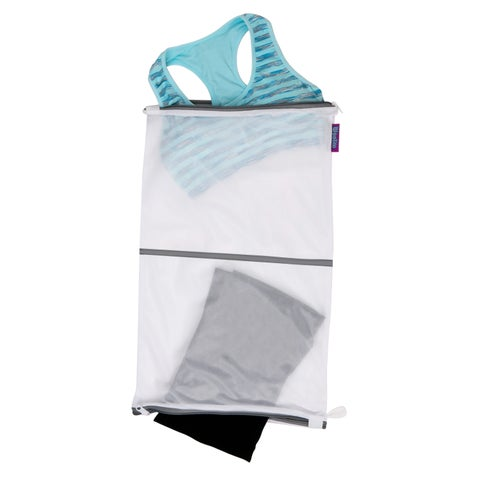 Sanitized Twin Compartment Wash Bag - White